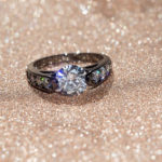 Black Ring With Diamond